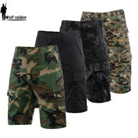 Mens Army Outdoor Military Combat Shorts City Tactical Cargo Short Pants Casual