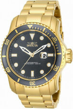 Invicta Pro Diver 15353 Men's Round Carbon Gold Tone Gray Analog Date Watch
