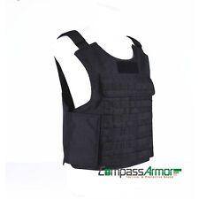 Molle tactical ballistic Vest Kevlar NIJ Level 3A Bulletproof Military Style BLK