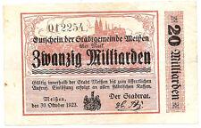 Meißen - 20 Milliarden Mark - 30.10.1923