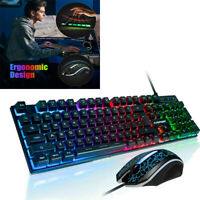 PS4 Keyboard Mechanical And Mouse Combo Gaming Led Set Playstation 4 Wired Kit