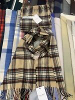 100% Lambswool Scarf by Lochcarron | Camel Stewart | Made in Scotland | Tartan