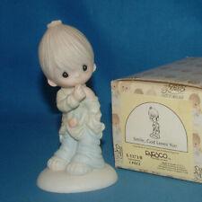 Precious Moments Figurine E1373B, Smile God Loves You w/box