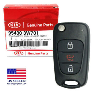 AUTOMUTO 3 Buttons Keyless Key Fob Remote Control Car key Transmitter 1X Replacement fit for Kia Sportage Soul 10 11 12 13 ADP12513701S