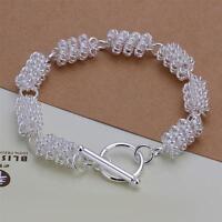 ASAMO Damen Armband 925 Sterling Silber plattiert Schmuck Gliederkette A1297