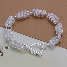 Damen Armband 925 Sterling Silber plattiert Schmuck Gliederkette