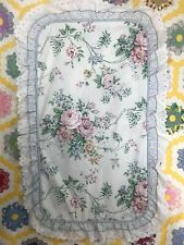 1 Jcp Home Collection KING PILLOW SHAM ruffled WHITE FLORAL