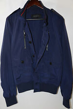 GUCCI Men's Blue Padded Iconic Bomber Jacket Size 38  RETAIL $1,350 current