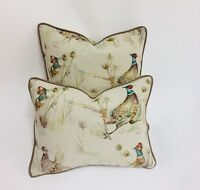 Voyage  -  Bowmont Pheasant Linen Cushion Covers - Country Collection