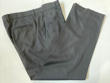 Perry Ellis Men's Black Solid Polyester Dress Pants 36X30 $98