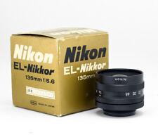 Nikon El-Nikkor 135mm f/5.6 A Enlarging - Macro - UV Lens + M42 Ring