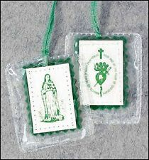 Green Laminated Scapular (15614) NEW