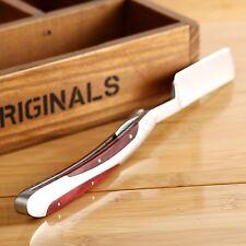 Straight Edge Stainless Steel Handle Barber Folding Razor Hair Shaving Knife MEN