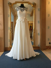 Lou Lou Bridal ivory vintage inspired silk chiffon and lace wedding dress 12
