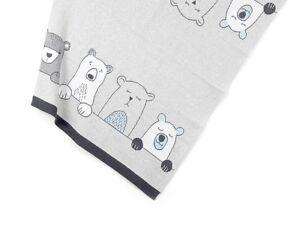 Henry Bears Cotton Knit Baby Blanket Adorable Indus Design Cot Pram Newborn Wrap