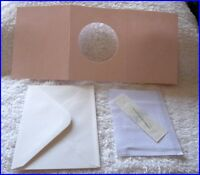 BLANK CROSS STITCH CARD KIT WITH FABRIC, NEEDLE, CARD, ENVELOPE PINK 1 FREE P&P
