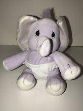 2000 Precious Moments Tender Tails Enesco Bean Bag Elephant Plush Stuffed Animal