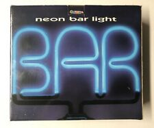 Exclusive Neon Light Blue Bar Sign With Base. New In Box.