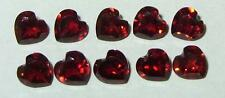 Lot 10pcs Beautiful India Red Garnet Heart Cuts 5mm SPECIAL