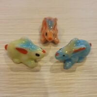 50 Pcs Wholesale Bulk Miniature Ceramic Rabbit Figurines Mini Ceramic Rabbits