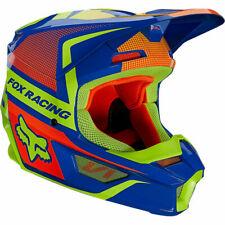 Fox Racing Youth V1 OKTIV MX Motocross Off Road Helmet Blue