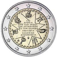 Griechenland 2 Euro Münze 2014 bfr. 150 Jahre Union der Ionischen Inseln