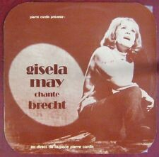 Bertold Brecht 33 tours Gisela May Espace Pierre Cardin
