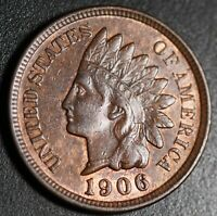 1906 INDIAN HEAD CENT - AU UNC - With HINTS OF MINT LUSTER!