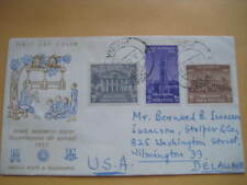 1957 India FDC from India to USA on Universities of Bombay, Calcutta & Madras