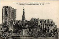 CPA MILITAIRE Noyon aprés la guerre-Fontaine et Cathédrale (316195)