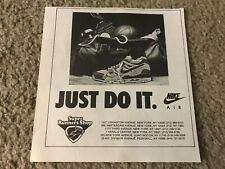 """Vintage 1980s NIKE AIR """"JUST DO IT"""" Poster Print Ad 1989 RARE"""