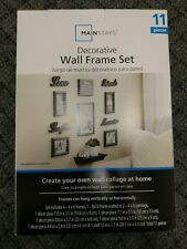 Mainstays Decorative Wall Frame Set - 11 Pieces - Black - NEW
