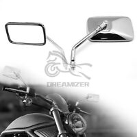 10mm Motorcycle Rectangle Rearview Mirrors For Honda Suzuki Kawasaki Yamaha