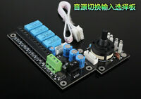 Audio Input Source Selector 1-4 In One Out Preamp Power Amplifier Fujitsu Relay