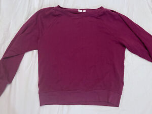 GAP Women's Purple Long-sleeve Crewneck Sweatshirt Loungewear/ Activewear - M