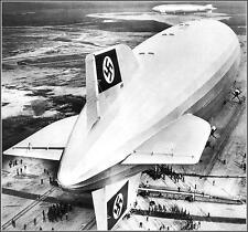 Poster Print: Hindenburg At Lakehurst With Distant Los Angeles, Lakehurst, 1936