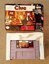 Clue - Super Nintendo (SNES) - Box & Cart - Good Condition