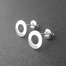 Boucles d'oreilles puces pastille ronde motif géométrique argent 925 BO254