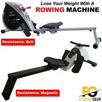 Magnetic & Premium Rowing Machine Body Toner Home Rower Fitness Cardio Workout