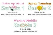 Business Cards 50 Make up Spray Tan Waxing Mobile Personalised Designed Printed