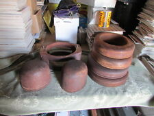 Lot of 7 Lundstrom Antique Wood Hat Molds  Rings Table  Millenery Block Brim