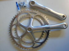 Square Taper ISO Bicycle Cranksets with Double Chainrings