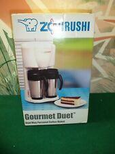 New Zojirushi Gourmet Duet Dual Mug Personal Coffee Maker Ec-Bc28 - Black