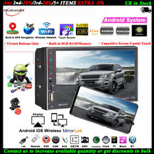 7''2 DIN 8G Android Car Radio GPS+Camera WIFI iOS Mirror Link AM MP5 Touch FM BT
