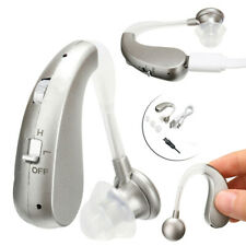 MiniAdjustable Rechargeable Digital Hearing Aid Voice Amplifier Behind Ear Sound