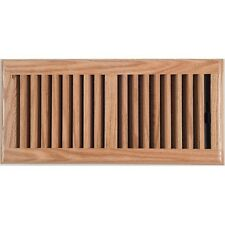 Light Oak Wood Timber Ducted Heating Floor Vent 150x350mm