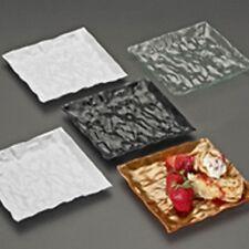 """120 Square 6.25"""" Dessert Plates Plastic Disposable-Reusable UNIQUE DESIGN Colors"""
