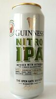Guinness Nitro IPA beer can 440ml + Nitrogen capsule Limited Edition Bottom open
