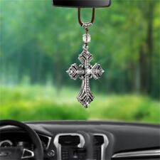 Car Pendant Jesus Charms Metal Crucifix Cross Car Rear view Mirror Decoration BL