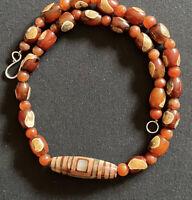 10 Antique Idar-Oberstein Milky Red Carnelian 12mm African Trade Beads Very Rare